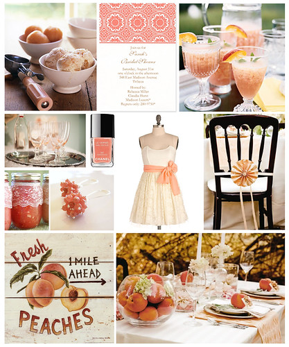 A Vintage Peach Bridal Shower