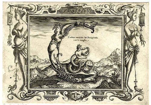 003-Letra C-Grotesque alphabet in mythological landscapes-© The Trustees of the British Museum