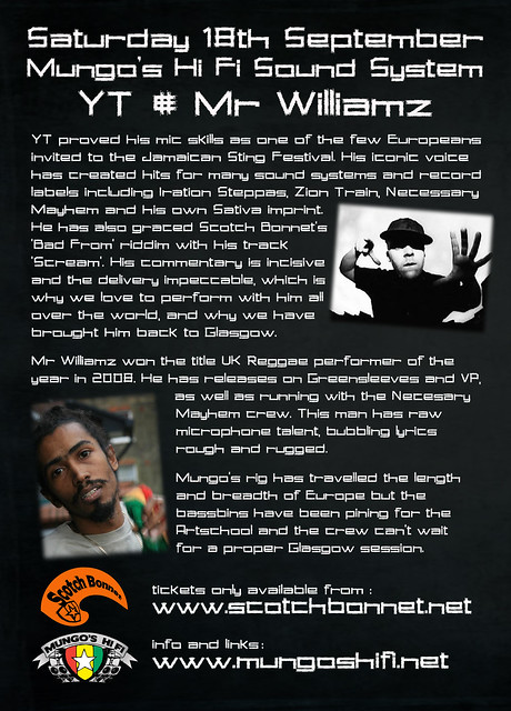 Mungo's Hi Fi meet YT and Mr Williamz verso
