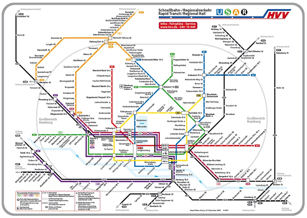 Hamburg Subway Map.Infrastructure Public Transport Sabiedriskais Transports Page