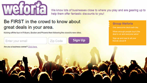 Weforia - Yellowbook's new group-buying discounts and deals service