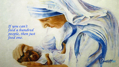 Mother Teresa Artwork by FredMikeRudy