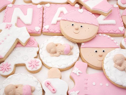 Süslü Bebek Kurabiyesi - SUgar Cookie