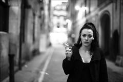 on renfield lane (gorbot.) Tags: blackandwhite bw bar night glasgow smoking stereo roberta canoneos5d nikonmount renfieldlane planar5014zf carlzeisszf50mmplanarf14