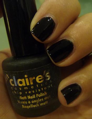 Claire's Matte Black