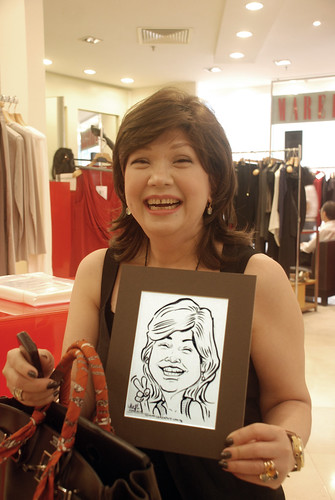 Caricature live sketching for Marella boutique - 17