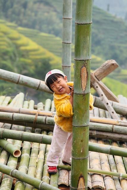 A girl in Longsheng Rice Terrace, Guangxi, China