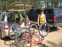 Clare at Colorado Trail Head Parking