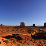 Monument Valley in Moonlight