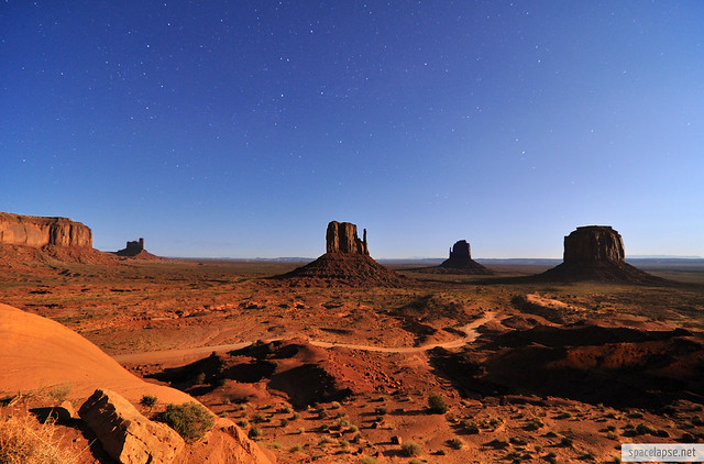 Monument Valley in Moonlight