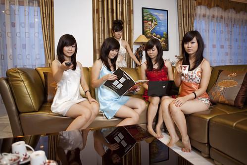 [フリー画像] 人物, 女性, アジア女性, グラフィックス, フォトアート, ベトナム人, 201106140100