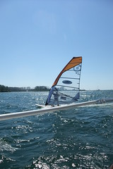 windsurfer from boat