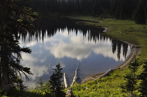Sunrise to Pallisades Lakes - Mt Rainier National Park 042