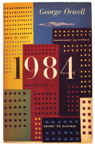 01 Olle Eksell, book cover, 1959, George Orwell, 1984