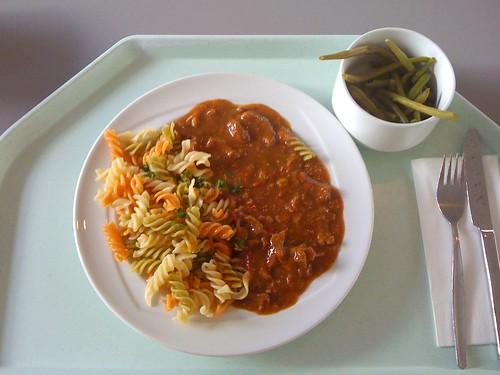 Pikantes Rindergeschnetzeltes / Spicy beef stripes