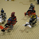 Star Wars Celebration V - Lego diorama - speeder bikes on Tatooine thumbnail