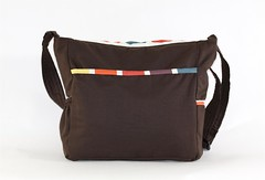 Colorful Squares Messenger Bag Back
