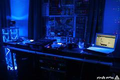 IMG_6384 (Dan Correia) Tags: topv111 macintosh lights topv333 blackberry laptop mixer lasers turntables headphones amplifier canonef1740mmf4lusm cdjs macbook aspectradio dowtempo curve8520