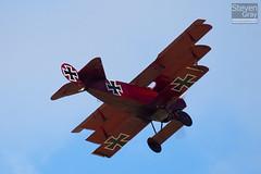 G-FOKK - 477 17 - PFA 238-14253 - Private - Fokker DR-1 TriPlane Replica - Little Gransden - 100829 - Steven Gray - IMG_4076