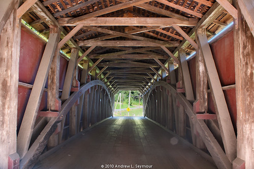 White Rock Forge Covered Bridge (Long Interior View) hdr 05