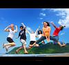 just having fun under the sun... ( Seen on Explore ) (rev_adan) Tags: trip travel blue sea people green beach colors fun island freedom jump philippines free vivid gb pinoy mindanao leyte bisaya revadan du9hgf