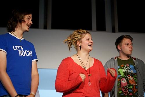 Von recht nach links: Christian, Sophie und ich (Bild: Vogelscheuche/dead-hands)