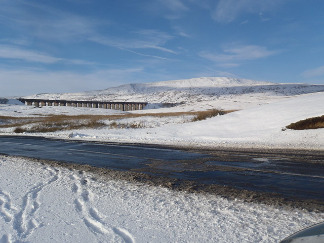 Whernside and the viaduct at Horton in Ribblesdale