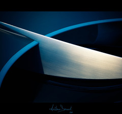 Blade (Antonin Douard) Tags: blue light red abstract paris car grey aluminum citroen wing jaguar carbon aluminium cx75 survolt