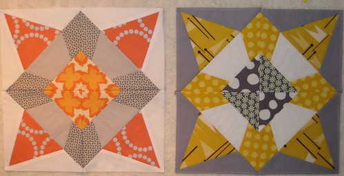 Quilting Divas mini-Sampler bee blocks by Poppyprint