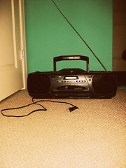 """Nothing on but the radio"" (: (NeverGrowingUp) Tags: old music radio cord cd player stereo 365 rca cassett"