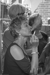 I'm faggin' listening (Maurice Tiggeler for Blue Jam Photography) Tags: women vrouwen roken smoking blackwhite zwartwit