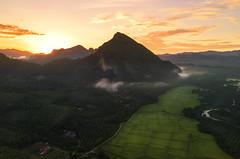 Mount Pulai, Baling Kedah (by nelzajamal) Tags: baling pulai kedah malaysia langkawi mount hill paddy sunset sunrise arial drone mavic outdoor