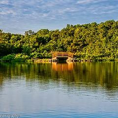 Tiny Bridge (kmac1960) Tags: kansas shawneemissionpark capturekc tamron canon water reflctions sky green kellymcgregorphotogrphy landscape summer