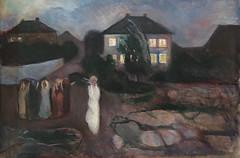 Edvard Munch, The Storm, 1893, Oil on canvas, SFMOMA (Sharon Mollerus) Tags: edvardmunchbetweentheclockandthebedexhibit sanfrancisco california unitedstates us cfpti17