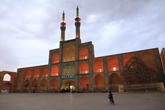 Amir Chakhmaq Complex (deus77) Tags: amir chakhmaq complex yazd iran architecture persian symmetry bike night cloudy building iranian lights