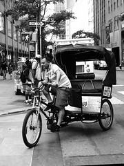One Way (Will.Mak) Tags: olympus penf leicadgsummilux25f14 25mmf14 25mm f14 monochrome streetphotography blackandwhite pedicab people oneway city street