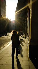 #24 - City silhouette (Richard Forward) Tags: london city silhouette sun highkey street