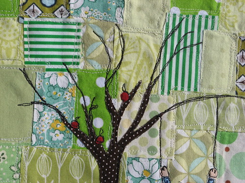 detail of tree stitching.