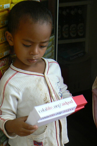 Madagascan Child with AidPod