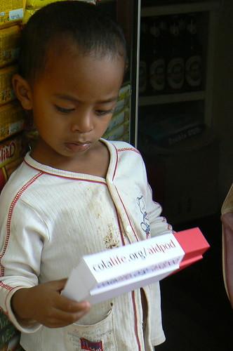 Madagascan Child with AidPod