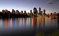 Brisbane City at Dusk (Tristan Gardner) Tags: city lights dusk australia brisbane queensland brisbanecity sunsetmania