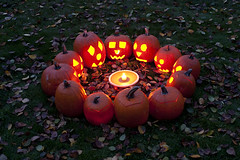 Carved pumpkins with pumpkin pie (Jim Corwin's PhotoStream) Tags: 31st halloween october anthropomorphic autumn autumnleaves backyard candle candles carve carved celebration childhood circle customs decorate decorations dramatic dusk eerie evening excited excitement face faces fall fallleaves fallseason festival fun funnyfaces group happy harvest haunted holiday horizontal humor illuminated jackolantern largegroup lightedcandles lightedpumpkins neighborhood night nighttime outdoors pagan photography pie plants playful pumpkin pumpkinpie pumpkinseance pumpkins residentialneighborhood scary seance season seasons secular sitting sunset tradition treats trick trickortreat twilight vegetables witchinghour
