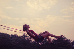 day 342 (near proximity) Tags: sunset sky swingset proctor ohnostalgia