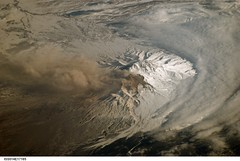 Shiveluch Volcano, Kamchatka Peninsula, Russia (NASA, International Space Station Science, 03/21/07) (NASA's Marshall Space Flight Center) Tags: volcano russia nasa internationalspacestation kamchatkapeninsula shiveluchvolcano stationscience crewearthobservation