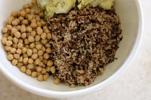 Wild Rice Salad with yogurt vinaigrette