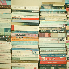 Books (_cassia_) Tags: bedroom multicoloured books literature rows stacked piles cornersofmyhome nobookshelves