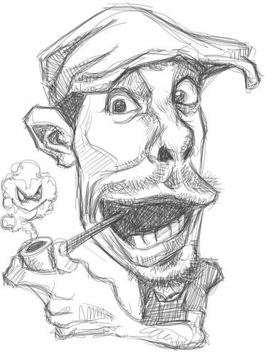 iPad digital caricature of Jason Seiler - 1