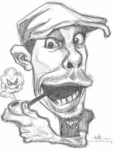 iPad digital caricature of Jason Seiler - 2