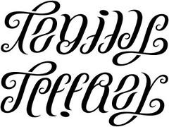 """""""Tenille"""" & """"Jeffrey"""" Ambigram v.1"""