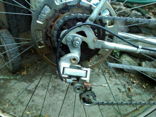 Suntour GT changer and Shimano 5 speed freewheel